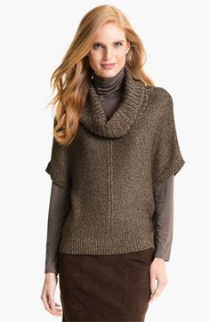 Nordstrom Collection 'Zebra' Cowl Neck Sweater available at #Nordstrom