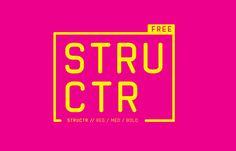 STRUCTR // FREE FONT on Behance