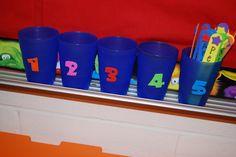 Behavior chart in cups