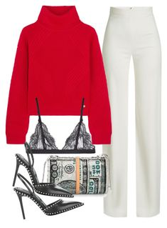 """""""Sin título #4005"""" by camilae97 ❤ liked on Polyvore featuring Brandon Maxwell, Versace, La Perla and Alexander Wang"""