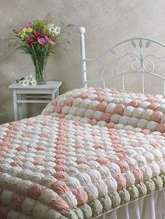 Quilting - Bed Quilt Patterns - Pieced Quilt Patterns - Irish Chain Biscuit Quilt