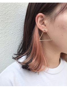Two Color Hair, Hidden Hair Color, Hair Dye Colors, Under Hair Color, Peekaboo Hair Colors, Hair Color Underneath, Pink Hair Streaks, Hight Light, Underlights Hair