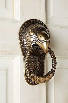 Discover unique door knobs, doorknockers, house numbers and more at Anthropologie, including the season's newest arrivals. Door Knobs And Knockers, Knobs And Handles, Door Handles, Cool Doors, Unique Doors, Door Furniture, Door Locks, Windows And Doors, Hardware