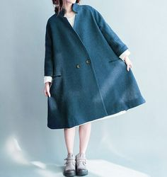 Pretty Blog - Laine bouillie Bleu Canard - Pretty Mercerie Manteau Long  Femme Hiver, Manteau 0b5a889b91f3