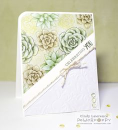 Succulents — plants that store their own water — arrived on the scene as far back as ancient Egypt, but wow, these juicy gems are more stylish than ever before. Showing up across the cardmaking scene