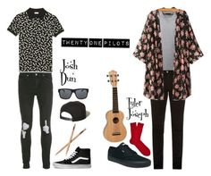 """Josh Dun &Tyler Joseph"" by dunwithpuns ❤ liked on Polyvore featuring Prada, Falke, Vans, McQ by Alexander McQueen, Topman, Yves Saint Laurent, Brixton, Orlebar Brown, men's fashion and menswear"
