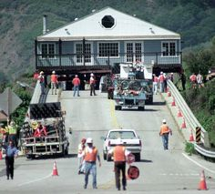The Avila Yacht Club Is Moved To It S New Home In This 1999 Picture