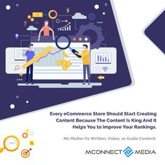 Every #eCommerce store 🛒 should start creating #Content because the #ContentIsKing 👑 and it helps you to improve your #SEO #rankings. 🚀 No matter its written 📃, video 🎬, or audio 📣 content. India Usa, Ecommerce Store, Design Development, Seo, Improve Yourself, Audio, Content
