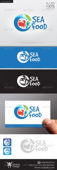 Sea Food Logo #GraphicRiver File Description This is custom logo template. Illustrator (AI), Vector (EPS) logo files included in this download. High Quality. AI, EPS 8/10. Not Include Mockups identity or CUP. Font: GoodDog .dafont /es/good-dog.font Created: 3 December 13