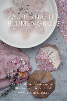Geschenk und Grußkarte zum Muttertag: DIY-Papier-Wunderblume