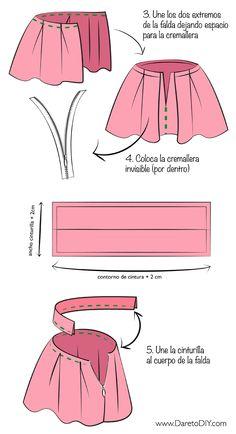 Tutorial DIY: Cómo hacer una falda tableada - newspaper print