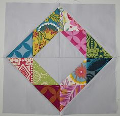 Diamond on in square by #littlemiss shabby