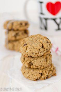 Peanut Butter Breakfast Cookies   crazyforcrust.com