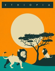 Poster | ETHIOPIA TRAVEL POSTER von Jazzberry Blue | more posters at http://moreposter.de