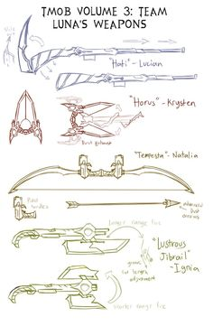 Random Sketches Chap. 146: LUNA Alt Weapons by Lightning-in-my-Hand