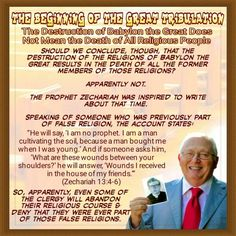THE BEGINNING OF THE GREAT TRIBULATION/The Destruction of Babylon the Great Does…