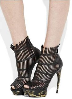 Image detail for -Rock the Party with Alexander McQueen Engraved Leather Cage High Heel ...