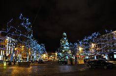 Grand Sablon on Christmas Eve - Brussels, Belgium