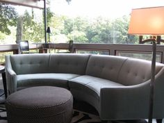 Chicken Scratch: 1960's Mid Century Semi-Circular Sofa