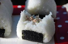 Tunamayo onigiri, well explained with pictures, on a site that's really quite cute and well put together.