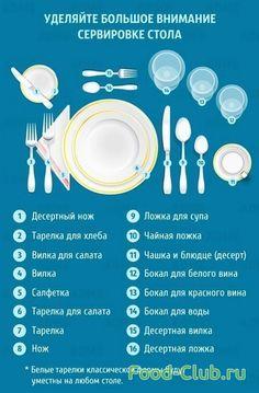 7 советов в картинках, как подать еду как настоящий повар! Секреты красивой подачи еды / Полезные советы / Кулинарные рецепты - Фуд-клаб.ру Table Setting Etiquette, Dining Etiquette, Food Plating Techniques, Education And Development, Table Manners, Food Club, Napkin Folding, Food Decoration, Time To Eat