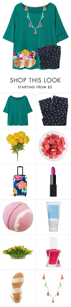 """""""Who else wants to go see The Big Sick?"""" by sewing-girl ❤ liked on Polyvore featuring Violeta by Mango, Sessùn, FRUIT, Vera Bradley, NARS Cosmetics, Korres, The French Bee, Essie, Wild Diva and INC International Concepts"""