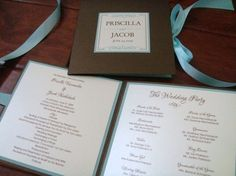 Show me your diy wedding programs! - Project Wedding Forums