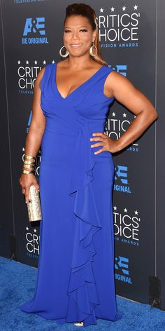 See All the Best Looks from the 2015 Critics' Choice TV Awards - Queen Latifah from #InStyle