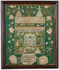Rare Needlework Sampler, Sarah Waterman, Providence, Rhode Island, dated 1785 | lot | Sotheby's