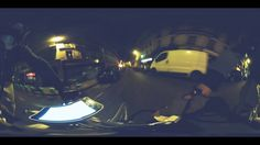 Bamboobike by night in 360 degree rotation