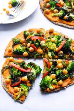 Butternut Squash Veggie Pizza W/ Lentil Crust: Vegan - Gluten/Wheat Free - Nut Free - Soy Free