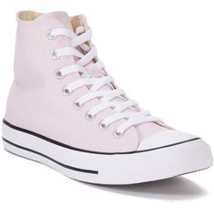 Women's Converse Chuck Taylor All Star High Top Shoes ($60) ❤ liked on Polyvore featuring shoes, sneakers, dark pink, laced up shoes, converse high tops, cap toe sneakers, converse sneakers and cap toe shoes