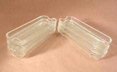 Leonard Silver Clear Crystal Corn Cradles or Corn Cribs Set of 6 Vintage by JohnGermaine on Etsy
