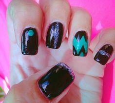 Okc thunder nail design nail designs pinterest beauty simple nail design prinsesfo Images