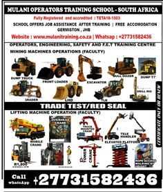 Accredited Courses of Over Head Crane, Drill Rigger, Front End Loader In Mpumalanga, Middleburg, South Africa Flux Core Welding, Arc Welding, Welding Courses, Truck Mounted Crane, Welding Training, Used Power Tools, Drilling Rig, Training School, Training Center