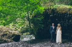 Waterfall Elopement in the Rainforest; photography: Carl Zoch // location: Wahclella Falls, Oregon on the Columbia River Gorge // florist: Lucy's Informal Flowers // wedding dress: Sarah Seven // groom's suit: Joseph A. Wedding Shoot, Wedding Bride, Wedding Ceremony, Our Wedding, Green Wedding, Wedding Blog, Wedding Gowns, Waterfall Wedding, Wedding Dresses With Flowers