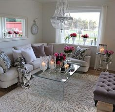 Living room with a touch of class and elegance