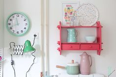 IDA interior lifestyle: DIY :: mint kitchen clock
