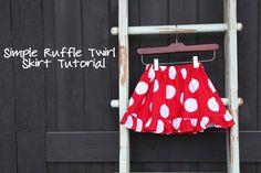 La*tee*da*kids: Twirl Ruffle Skirt Tutorial .... go ahead and DIY!