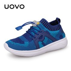b14a4b0b1a0 UOVO Kids Sport Shoes Boys Running Shoes 2018 Spring Children Breathable  Mesh Shoes For Boys And