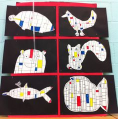 Mondrian Animals | Apex Elementary Art: February 2012