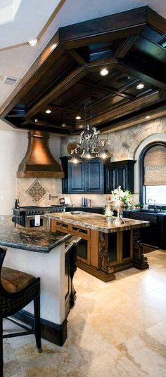 Kitchen Decor - Home Design Style At Home, Luxury Kitchens, Cool Kitchens, Dream Kitchens, Dark Kitchens, Small Kitchens, Sweet Home, Deco Design, Design Design