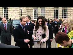 Prince William and Kate Middleton tossing pancakes in Belfast. Prince William and Kate Middleton flipping some pancakes whilst visiting Belfast on Shrove Tuesday.