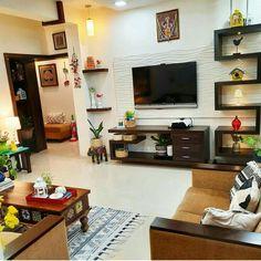 India Home Decor, Ethnic Home Decor, Living Room Decor India, Bedroom Furniture Design, Home Decor Furniture, Home Decor Bedroom, Living Room Partition Design, Living Room Tv Unit Designs, Indian Home Design