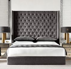 Adler Shelter Diamond-tufted Fabric Platform Bed