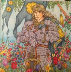 Copic coloring Game of thrones coloring book colored by Sonya Sena Margason