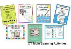 Printable visual perceptual activities for preschool!