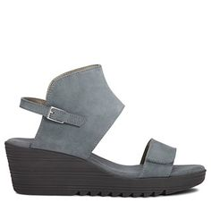 d5dae6f9aa07 Aerosoles Women s In The Bog Medium Wide Sandals (Chambray Nubuck) Platform  Wedge Sandals