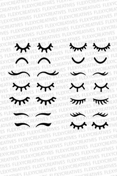 Eyelashes SVG Eyelashes Unicorn Vector Clipart Cut File