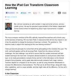 How the iPad Can Transform Classroom Learning